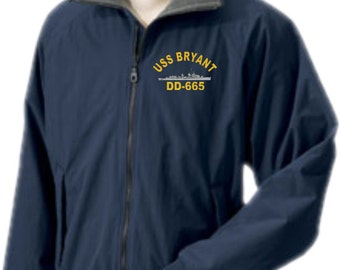 USS BRYANT DD-665  Embroidered Jacket   New