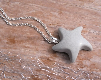 Necklace concrete Starfish - summer trend - Beach - summer jewelry - gift -.