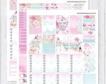 Me time Weekly Kit Stickers For Erin Condren and Happy Planner {INSTANT DOWNLOAD}