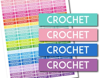 Crochet stickers, Crochet planner stickers, Crochet printable stickers, Crochet weekly stickers, Crochet monthly stickers, STI-698