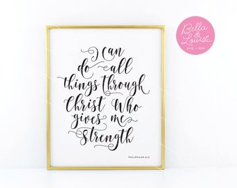 I can do all things through Christ SVG vector file - digital download. Compatible with Cricut Explore, Silhouette and more. PDF Included!