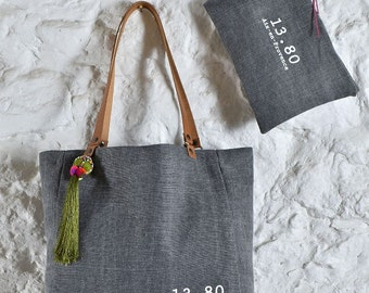 White grey tote bag from the CITY Collection