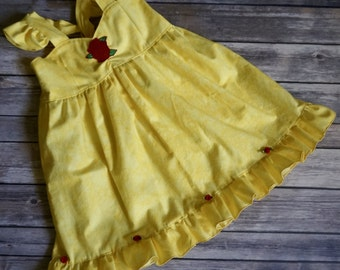 Disney Inspired Belle Dress- Beauty and the Beast Dress- Belle Ballgown- Belle Birthday Outfit- Beauty and the Beast Birthday-Belle Dress