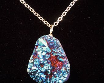 Blue Geode Necklace