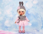 Bunny outfit for Pukifee & Lati Yellow (sweater, skirt, hat, tights, bag) 1/8  BJD dolls
