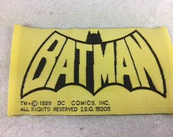 Vintage 1989 Batman Patch - Sew on Patch - DC Comics