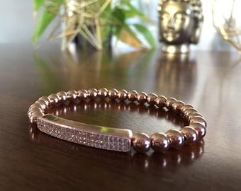 Rose gold CZ bracelet
