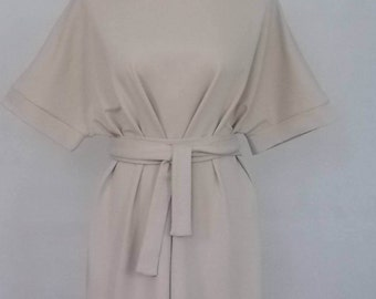 Belted  Tunic Dress. Removable belt. Fun to wear different ways.