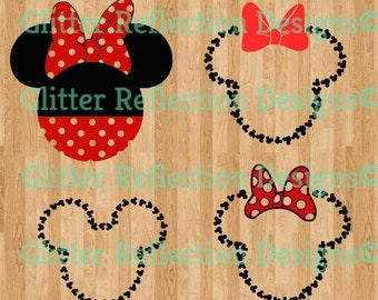 Minnie and Mickey Mouse SVG files