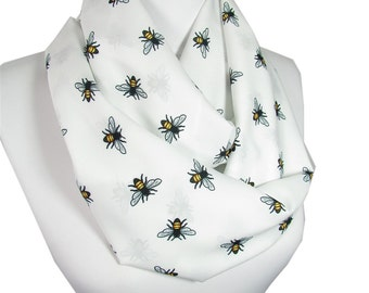 Bee Scarf Infinity Scarf Animal Scarf Circle Scarf Christmas Gift For Her For Women Spring Summer Fall Winter Women Fashion Accessories