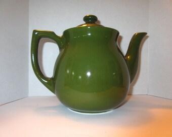 Vintage Green Ceramic Teapot