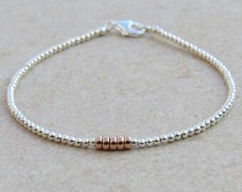 Silver & Rose Gold Bracelet