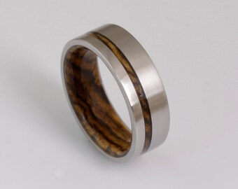wood wedding band mens wedding ring woman band BOCOTE ring man jewelry titanium ring wood ring