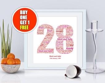 28th  anniversary, 28th anniversary gift, twenty eighth anniversary, 28th anniversary present