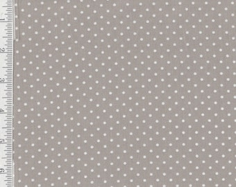 Lakehouse Polka dots - Per Yard- Lakehouse - Grey - No Pam Kitty Here!