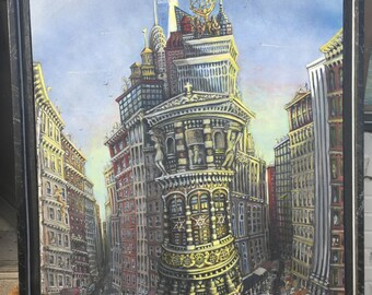 Metropolitan, Acrylic Painting on canvas 36x54 in