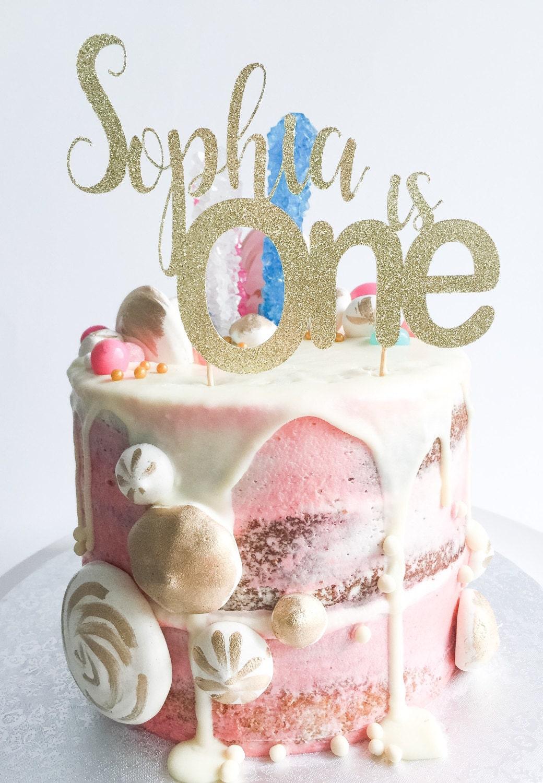 One Cake Topper Birthday Cake Topper Gold Glitter Topper