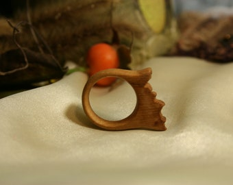 Wood ring. Handmade ring.  Natural Jewelry. Minimalist Wood Ring. Sycamore ring.