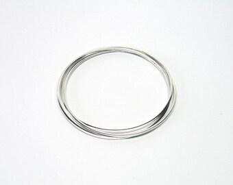 Bangle 3 set Silver 925 Bangle bracelets square