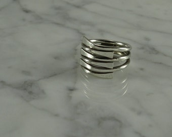 "Sterling Silver ""Stack Ring"" Look  (size 6.25)"