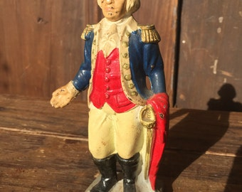 Vintage Cast Iron George Washington Bank
