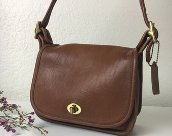 1997 Coach Natural Brown Cross Body or Shoulder Purse