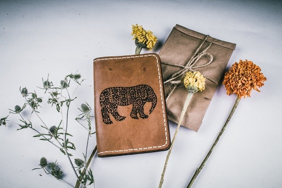 Leather passport cover - personalized passport cover - custom passport cover - gift for him - free personalization - passport holder