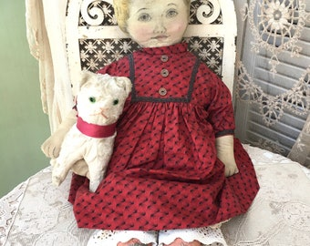 "Wonderful Large Antique 26""  ""Art Fabric Mills"" Rag Doll-""Merry Marie"""