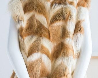 Fox Fur | Fur vest | Fur Jacket | Red Fox Fur Jacket | Women's Fur Jacket | Fur Bomber Jacket | Red Fox Fur | Sz S