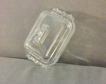 "From West Germany: Gorgeous Mikasa 7 3/8"" x 5 1/8""  ""Satin  Rose"" Walther Crystal Lidded Butter Dish, Perfect Condition"