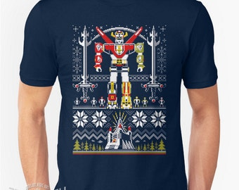 Yuletron - Ugly Christmas Holiday Sweater style T-shirt
