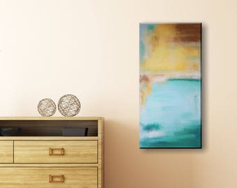 Original Abstract Acrylic Painting - Havana 50x100 cm