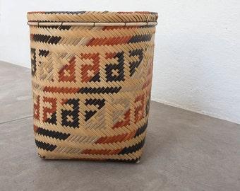 Urucubiúna Basket / Handmade Woven Basket / Ethnic Basket / Primitive Decor