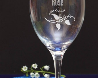 Personalised Engraved Rose Wine Glass Birthday/Wedding/Accaution73