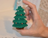 Christmas tree gift, crochet Christmas tree, small Christmas decoration, Handmade ornament, home decor Christmas tree,  hanging in the tree