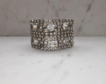 1950's Rhinestone Cuff Bracelet