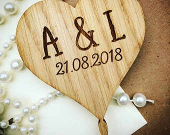 Heart Cake Topper Wedding Rustic