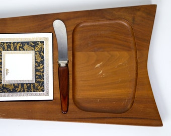 Melcor Cheese Board Greek Key Gold and Black