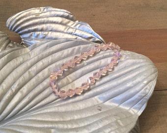 Rose glass beaded bracelet
