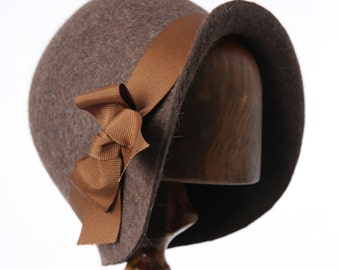 1920's Brown Miss Phryne Fisher Cloche Hat