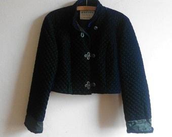 JAEGER Velvet Cropped Jacket Size 14
