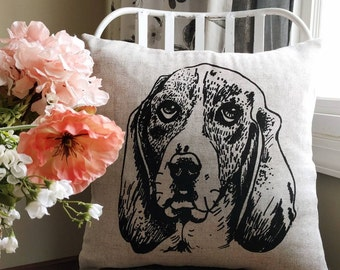 Custom dog pillow, Pet portrait pillow, Dog pillow, Cat pillow, Pet pillow, Pet pillow cover, Decorative pillow, Custom pillow