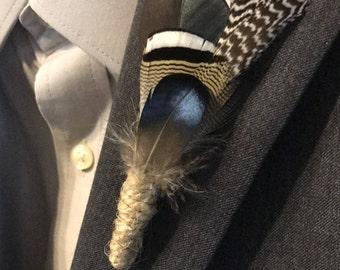 Feather Beau-tonnière (Boutonnière)