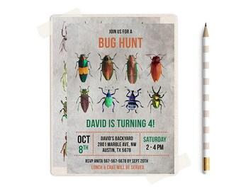 Bugs Invitation, Bug Invitations, Bug Hunter, Bug Hunting, Bugs Birthday Party, Bugs Birthday Invitations, Bugs Birthday Invitation, Bugs,