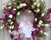 Spring Crocus Wreath
