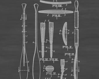 Paddle and Oar Patent 1918 - Vintage Boat,  Boat Decor. Boat Paddle, Naval Art, Sailor Gift, Nautical Decor, Paddle Patent, Oar Patent, Oars
