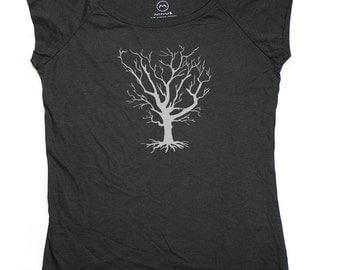 Ninus - Winter Tree, Hand-printed Bamboo Women's T-Shirt