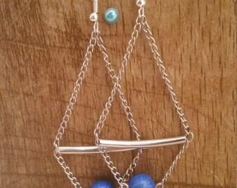 Blue earrings ~ Illuminati collection