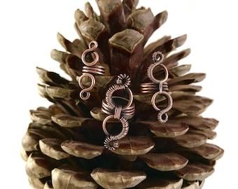 Oxidised Copper Elvish dreadlock jewelry