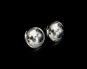 Moon Studs Full Moon Earrings   Full Moon Jewelry Studs   Full Moon Studs Gift   Full Moon Jewelry Studs   Full Moon Earrings Jewelry Gift